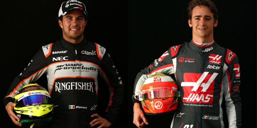 Sergio Pérez y Esteban Gutierrez, Pilotos fórmula 1.